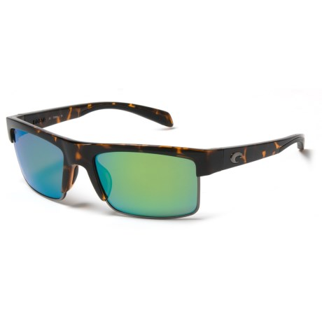 Costa South Sea Sunglasses - Polarized 580P Mirror Lenses in Retro Tort/Gunmetal Green