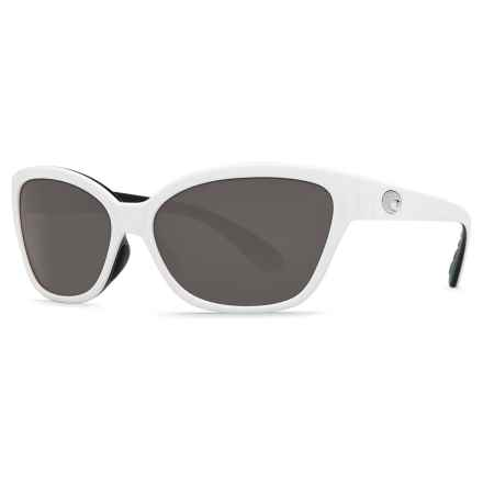 Costa Starfish Sunglasses - Polarized 580P Lenses (For Women) in White Black/Gray - Closeouts