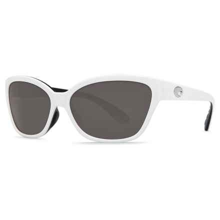 Costa Starfish Sunglasses - Polarized 580P Lenses (For Women) in White Black/Gray - Closeouts
