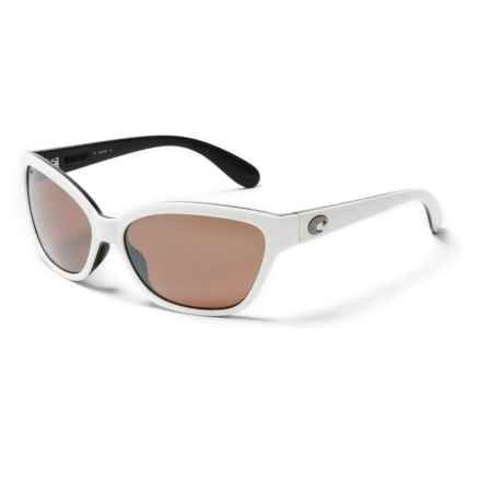 Costa Starfish Sunglasses - Polarized 580P Mirror Lenses (For Women) in White/Black/Silver Mirror - Overstock