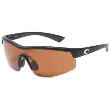 Costa Straits Sunglasses - Polarized 580P Lenses in Black/Copper - Closeouts
