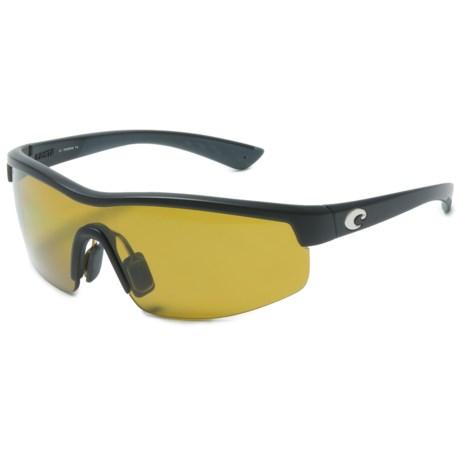 Costa Straits Sunglasses - Polarized 580P Lenses in Black/Sunrise