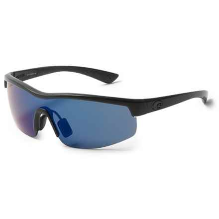 Costa Straits Sunglasses - Polarized 580P Lenses in Blackout/Blue Mirror - Closeouts