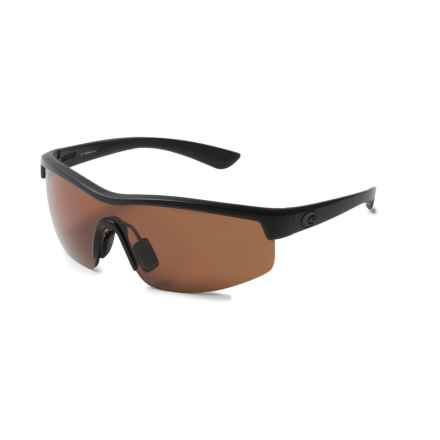 Costa Straits Sunglasses - Polarized 580P Lenses in Blackout/Copper - Closeouts