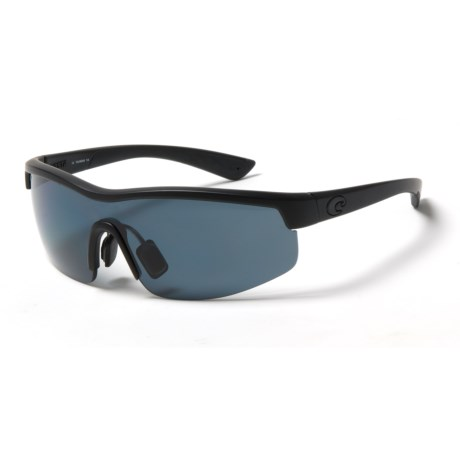 Costa Straits Sunglasses - Polarized 580P Lenses in Blackout/Gray