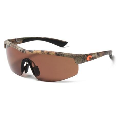 Costa Straits Sunglasses - Polarized 580P Lenses in Realtree Xtra Camo/Copper
