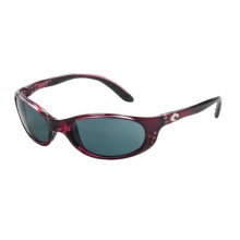 Costa Stringer Sunglasses - Polarized 580P Lenses in Orchid/Gray - Closeouts