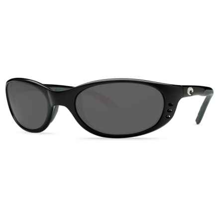 Costa Stringer Sunglasses - Polarized 580P Lenses in Shiny Black/Gray - Closeouts