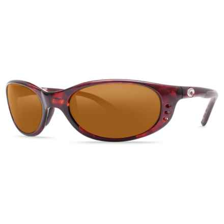 Costa Stringer Sunglasses - Polarized 580P Lenses in Shiny Tortoise/Amber - Closeouts