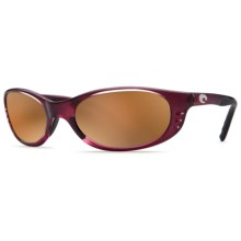 Costa Stringer Sunglasses - Polarized, Mirrored 580G Glass Lenses in Orchid/Silver Mirror - Closeouts