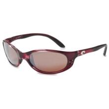 Costa Stringer Sunglasses - Polarized, Mirrored 580P Lenses in Orchid/Silver Mirror - Closeouts
