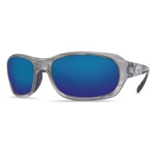 Costa Tag Sunglasses - Polarized 400G Glass Mirror Lenses in Silver/Blue Mirror 400G - Closeouts