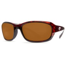 Costa Tag Sunglasses - Polarized 400P Lenses in Tortoise/Dark Amber 400P - Closeouts