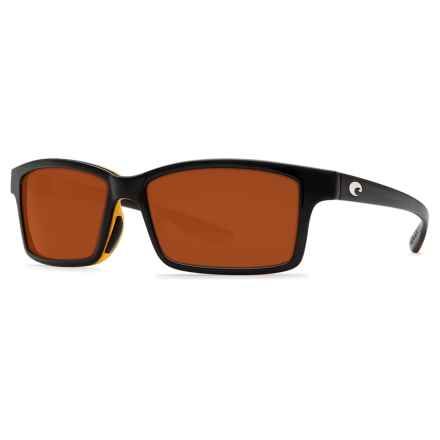Costa Tern Sunglasses - Polarized 580P Lenses in Black Amber/Copper - Closeouts