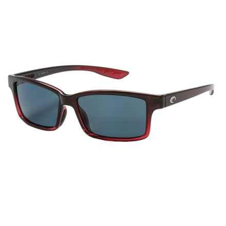 Costa Tern Sunglasses - Polarized 580P Lenses in Pomegranate Fade/Gray - Closeouts