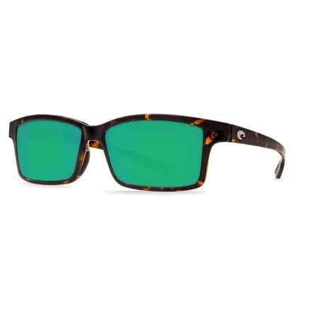 Costa Tern Sunglasses - Polarized 580P Lenses in Retro Tortoise/Green Mirror - Closeouts