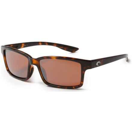 Costa Tern Sunglasses - Polarized 580P Mirror Lenses in Retro Tortoise/Silver Mirror - Closeouts