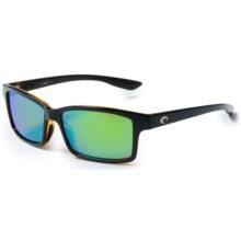Costa Tern Sunglasses - Polarized, Mirrored 580P Lenses in Black Amber/Green Mirror - Closeouts