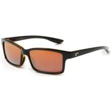 Costa Tern Sunglasses - Polarized, Mirrored 580P Lenses in Black Amber/Silver Mirror - Closeouts
