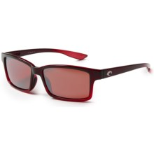Costa Tern Sunglasses - Polarized, Mirrored 580P Lenses in Pomegranate Fade/Silver Mirror - Closeouts