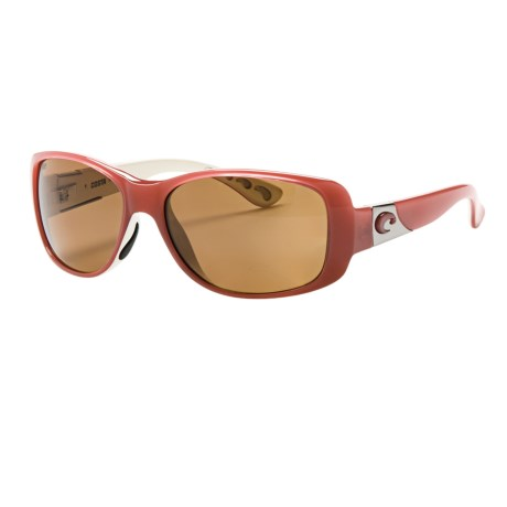 Costa Tippet Sunglasses - Polarized 580P Lenses in Coral White/Amber 580P