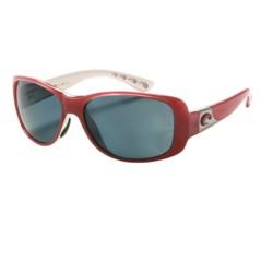 Costa Tippet Sunglasses - Polarized 580P Lenses in Coral White/Dark Grey 580P