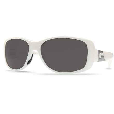 Costa Tippet Sunglasses - Polarized 580P Lenses in White/Gray - Closeouts