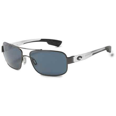 Costa Tower Sunglasses - Polarized 580P Mirror Lenses in Gunmetal/Matte Crystal/Gray - Overstock