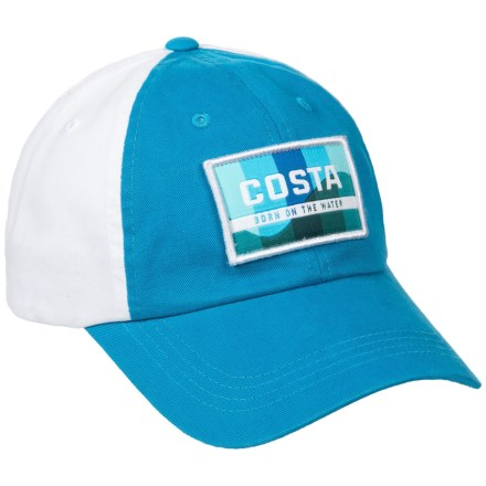 d4563015d7c23 Costa Traveler Twill Baseball Cap (For Men) in Costa Blue White - Closeouts