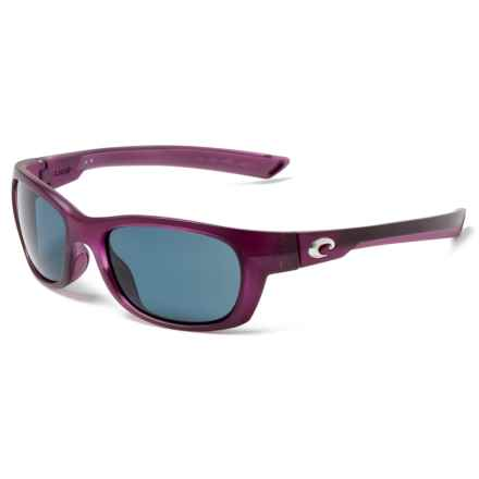 3be7575376ab4 Costa Trevally 580P Sunglasses - Polarized (For Women) in Matte Orchid Gray