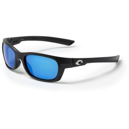 0b4bed8ecd Costa Trevally Sunglasses - Polarized 580P Mirror Lenses in Matte  Black Gunmetal Blue Mirror