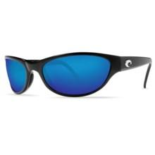 Costa Triple Tail Sunglasses - Polarized 400G Glass Mirror Lenses in Black/Blue Mirror - Closeouts