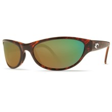 Costa Triple Tail Sunglasses - Polarized 400G Glass Mirror Lenses in Tortoise/Green Mirror - Closeouts