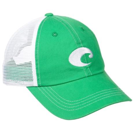 Costa Trucker Hat (For Men) in Spring Green/White