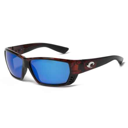 Costa Tuna Alley Sunglasses - Polarized 400G Lenses in Tortoise Blue Mirror - Closeouts