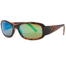 Costa Vela Sunglasses - Polarized 400G LightWAVE® Glass Mirror Lenses in Tortoise/Green Mirror 400G - Closeouts