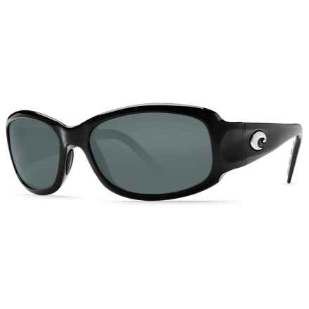 Costa Vela Sunglasses - Polarized 580P Lenses in Black/Dark Grey 580P - Closeouts
