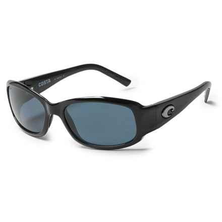 Costa Vela Sunglasses - Polarized 580P Lenses in Black/Gray - Overstock