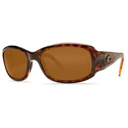 Costa Vela Sunglasses - Polarized 580P Lenses in Tortoise/Amber 580P - Closeouts