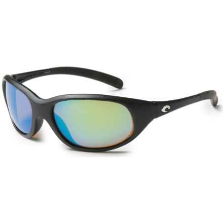 Costa Wave Killer Sunglasses - Polarized 400G Glass Mirror Lenses in Black/Green Mirror 400G - Closeouts