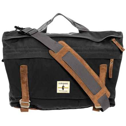 Cotopaxi Kpong 15L Classic Satchel - Suede in Black - Closeouts