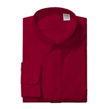 Cotton Blend Dress Shirt - Long Sleeve (For Men) in Red - 2nds