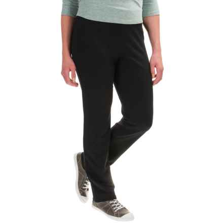 Cotton-Blend Straight-Leg Pants (For Women) in Black - 2nds