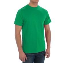 Cotton Blend T-Shirt - Short Sleeve (For Men) in Dark Green - 2nds