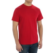 Cotton Blend T-Shirt - Short Sleeve (For Men) in Red - 2nds