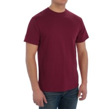 Cotton Blend T-Shirt - Short Sleeve (For Men) in Wine - 2nds