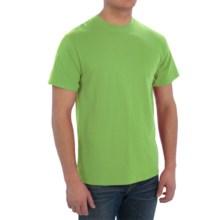 Cotton Blend T-Shirt - Short Sleeve (For Men) in Yellow Green - 2nds