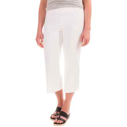 Cotton-Blend Wide-Leg Cropped Pants (For Women) in White - 2nds
