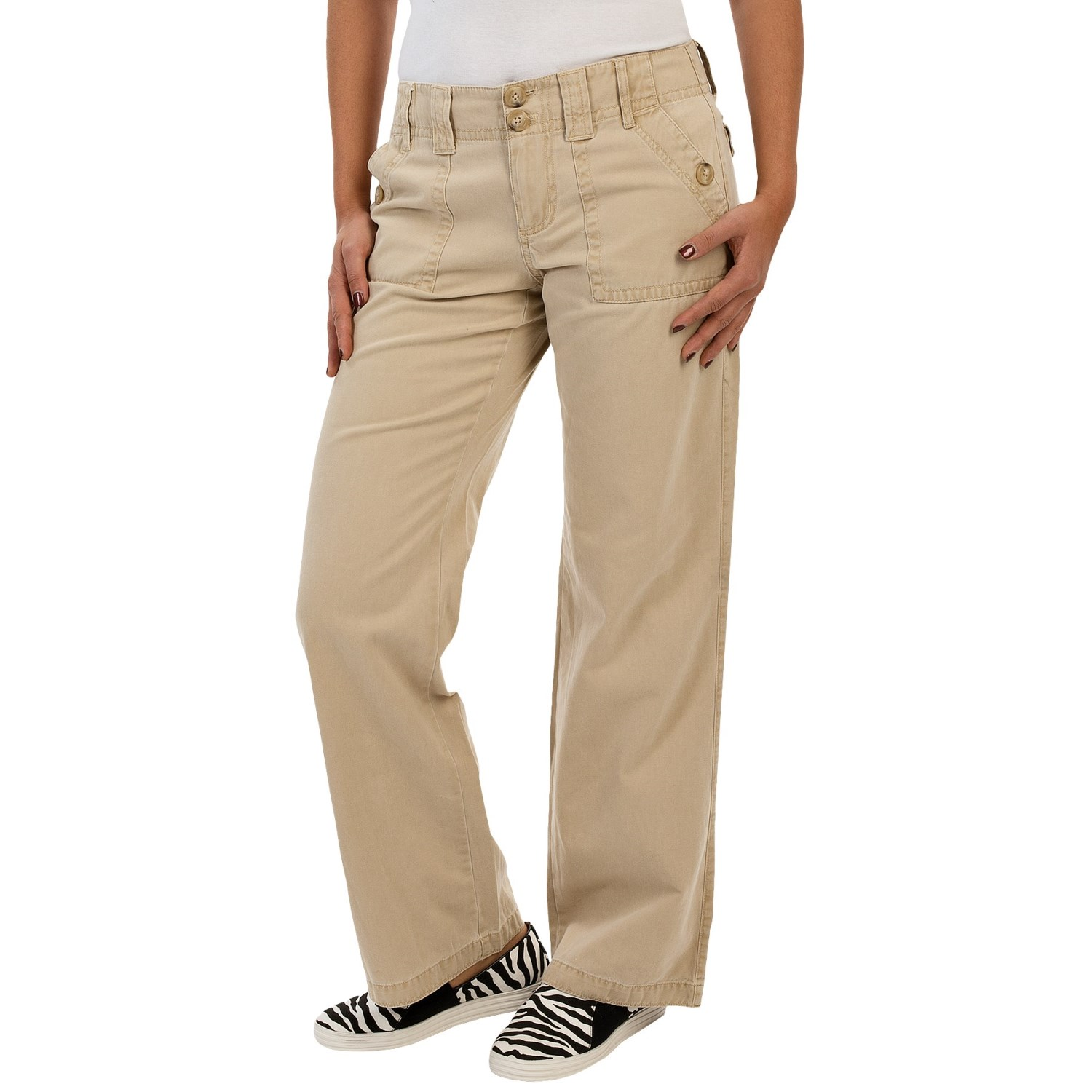 Perfect 2nds Embrace Warmweather Adventures In These Stretch Cotton Cargo Pants Lightweight And Breathable, They Boast Stretchyribbed Side Panels At The Waist For Added Comfort, And Roll Hems With Button Tabs For Adjustable Length And