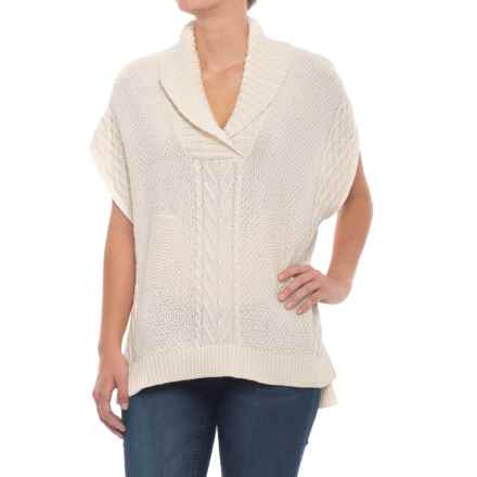 Cotton Country Osler Shawl Sweater - Short Sleeve (For Women) in Natural - Closeouts